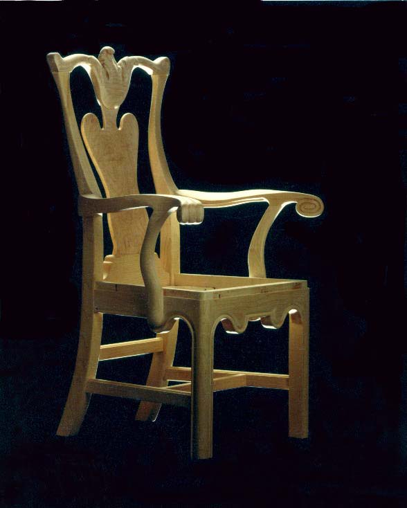 Carved Maple Chair